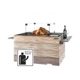 Nice&Nasty - Masa cocon Lounge & Dining dreptunghiulara cu arzator gri