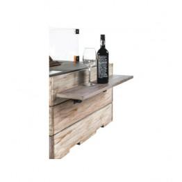 Masute laterale din lemn de tec cu 2 suporturi din cauciuc, 1 set contine 2 piese