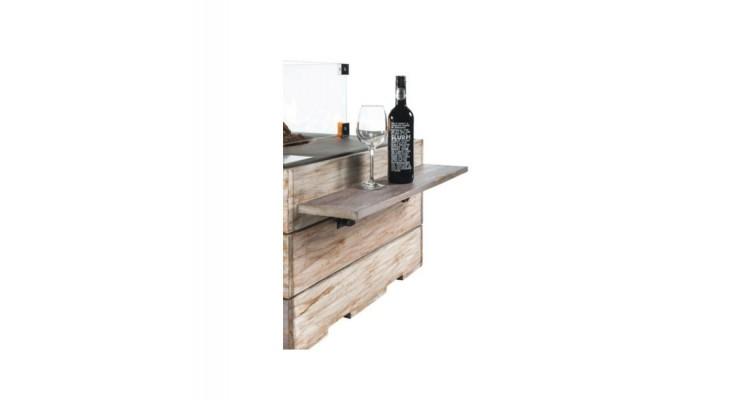 Masute laterale din lemn de tec cu 2 suporturi din cauciuc, 1 set contine 2 piese imagine 2021 kivi.ro