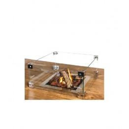 Kit ecrane de geam pentru arzator patrat incorporabil
