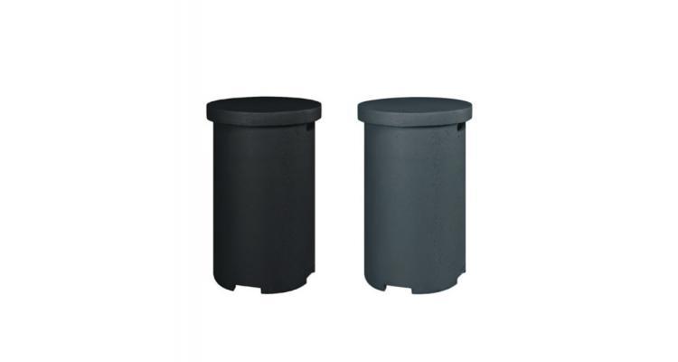 Spatiu stocare butelie (masuta laterala) rotunda neagra