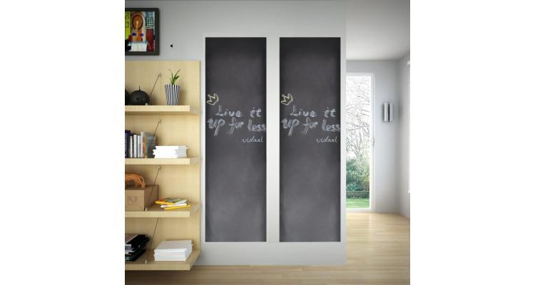 Autocolant pentru perete design tablă, 0,6 x 2 m, 2 buc + cretă poza kivi.ro
