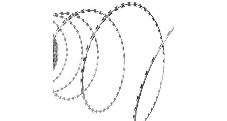 Sârmă ghimpată cu lame tip nato 60 m poza kivi.ro