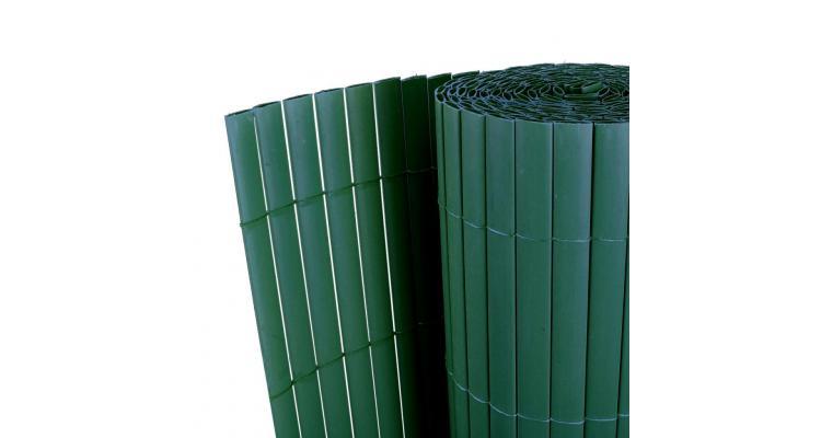 Gard pentru grădină verde 150 x 500 cm pvc față dublă 12 mm poza kivi.ro