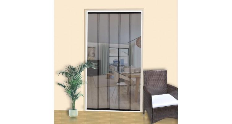 Ușă pentru insecte 4 părți perdea plasă 220 x 125 cm negru imagine 2021 kivi.ro