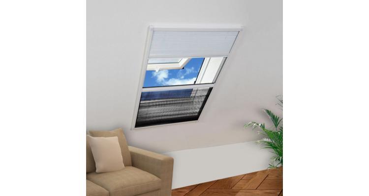 Plasă fereastră pentru insecte 160 x 80 cm aluminiu protecție solară imagine 2021 kivi.ro