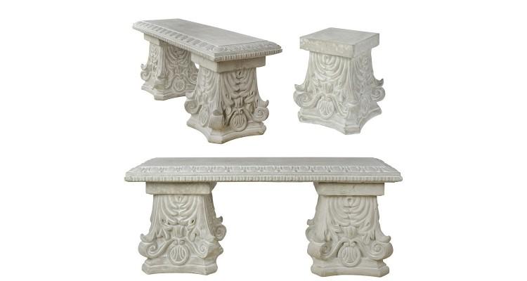 Banca Ceramica Picioare Decorate Clasic Banci Ilustratie