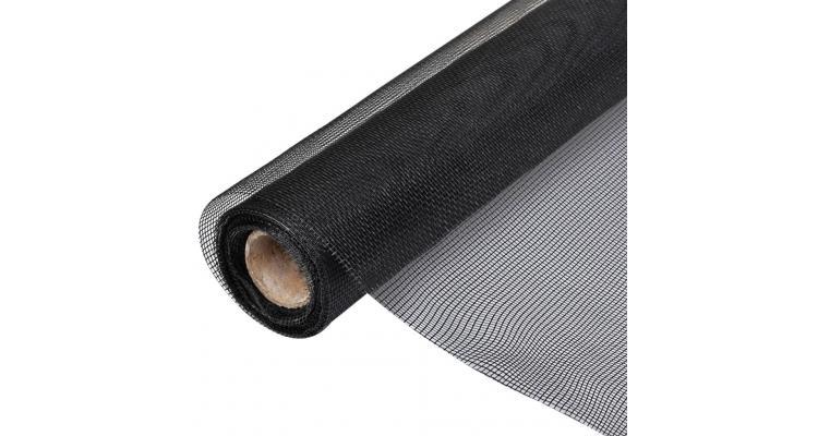 Rulou plasă de țânțari pentru ușă/fereastră 150 x 1000 cm, negru imagine 2021 kivi.ro