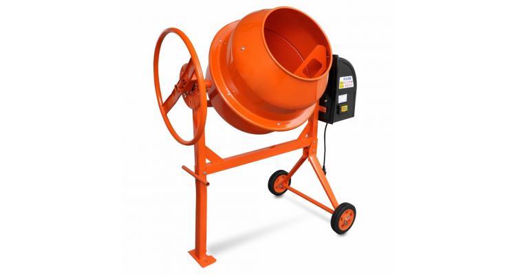 Mixer de beton și ciment 140 l 650 w din oțel portocaliu imagine 2021 kivi.ro