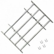 Grilaj de siguranță pentru ferestre cu 4 bare transversale, 500-650 mm