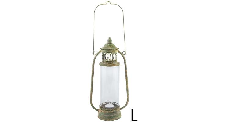 Lampa din metal antichizat, L