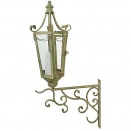 Lampa de perete din metal antichizat cu carlig
