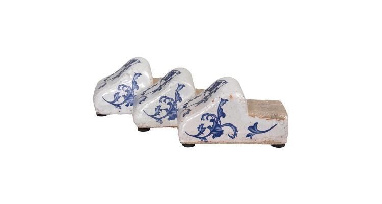 Set 3 suporturi ghiveci ceramica antichizata Regana poza kivi.ro