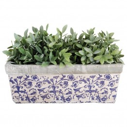Jardiniera din ceramica antichizata pentru balcon Regana