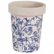 Set 3 ghivece lungi din ceramica antichizata Regana