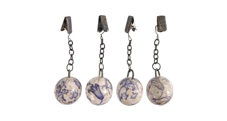 Set 4 contragreutati din ceramica antichizata pentru fata de masa Regana imagine 2021 kivi.ro