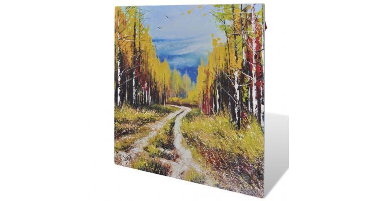 Radiator panou cu infraroșu 400 w 60 x 60 cm cu tematica copaci poza kivi.ro