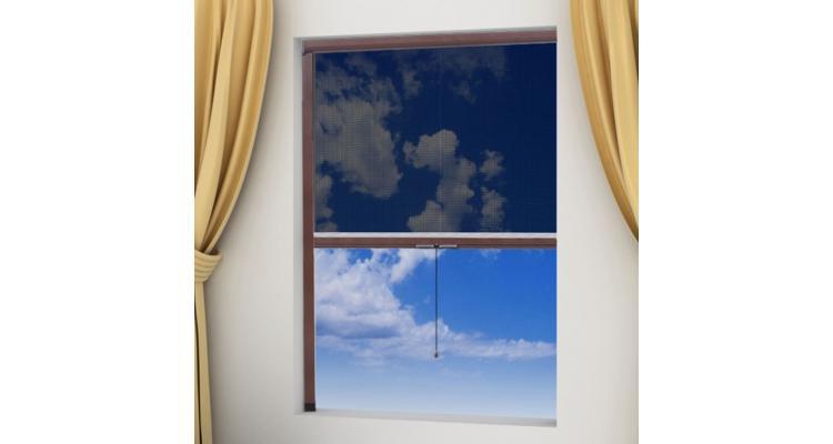 Plasă tip rulou pentru ferestre împotriva insectelor 100 x 170cm, maro imagine 2021 kivi.ro