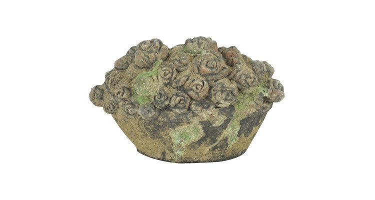 Ornament Cos cu Flori Moss Godet imagine 2021 kivi.ro