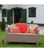 Canapea de gradina CORFU II LOVE SEAT Capuccino/ Gri- nisipiu