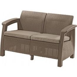 Canapea de gradina CORFU II LOVE SEAT Cappuccino