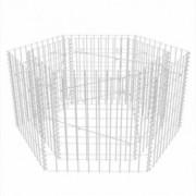 Jardinieră gabion hexagonală, 100 x 90 x 50 cm