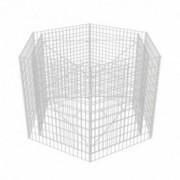 Jardinieră gabion hexagonală, 160 x 139 x 100 cm