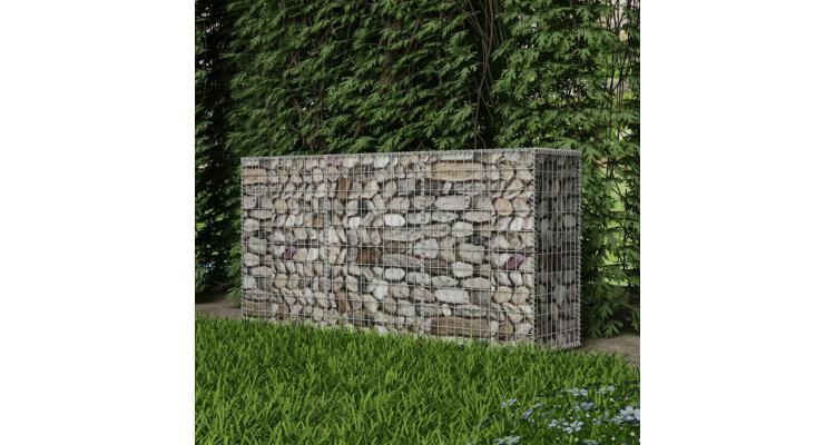 Coș gabion din oțel, 200 x 50 x 100 cm imagine 2021 kivi.ro