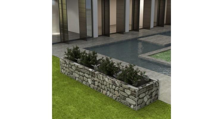 Jardinieră gabion din oțel, 360 x 90 x 50 cm poza kivi.ro