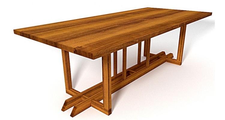 Masa de gradina handmade din lemn masiv de Iroko imagine 2021 kivi.ro