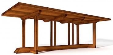 Masa de gradina handmade din lemn masiv de Iroko