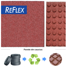 Pavele cauciuc Reflex 100x100x7 cm