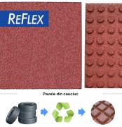 Pavele cauciuc Reflex 100 X 100 Cm 7 Cm