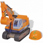 Excavator rotativ din plastic pentru copii Galben