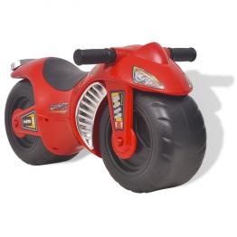 Motocicleta fara pedale din plastic pentru copii, rosu