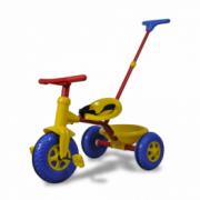 Tricicleta pentru copii mici, Rosu/Albastru/Galben