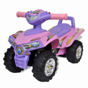 ATV pentru copii, cu sunet si lumini, roz-mov