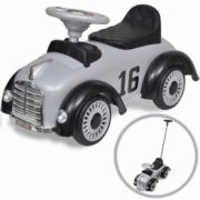 Masina retro de jucarie pentru copii, cu impingere, gri
