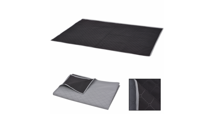 Patura de picnic cu gri si negru 150 x 200 cm