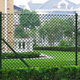 Gard de sarma 1,25 x 15 m Verde cu Stalpi si Accesoriile de montare