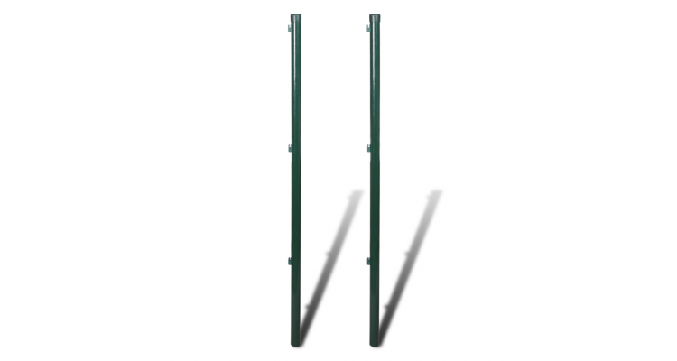 Stalp pentru gard/ plasa, 115 cm, 2 bucati poza kivi.ro