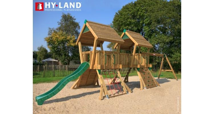 Spatiu de joaca din lemn Hy-Land Swing Modul Q