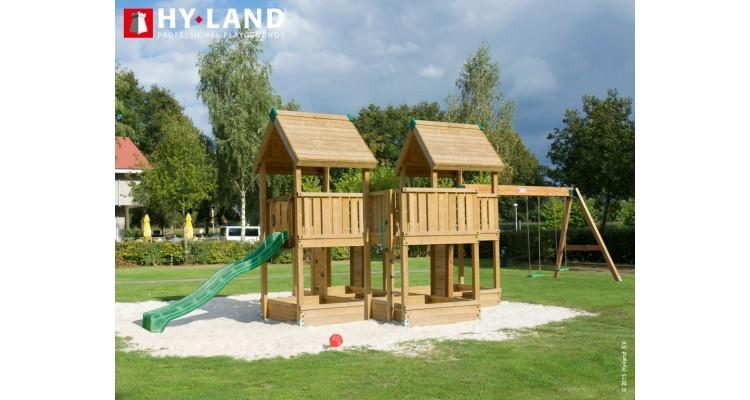 Spatiu de joaca din lemn Hy-Land Swing Modul P poza kivi.ro