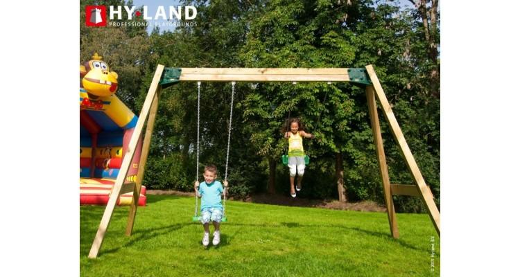 Leagan dublu din lemn Hy-Land Swing Classic imagine 2021 kivi.ro