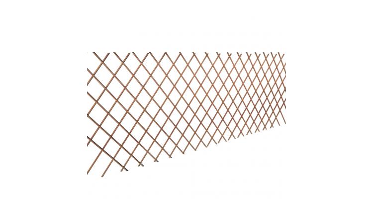 Gard delimitator armonica din lemn de salcie 90 x 180 cm, 5 buc