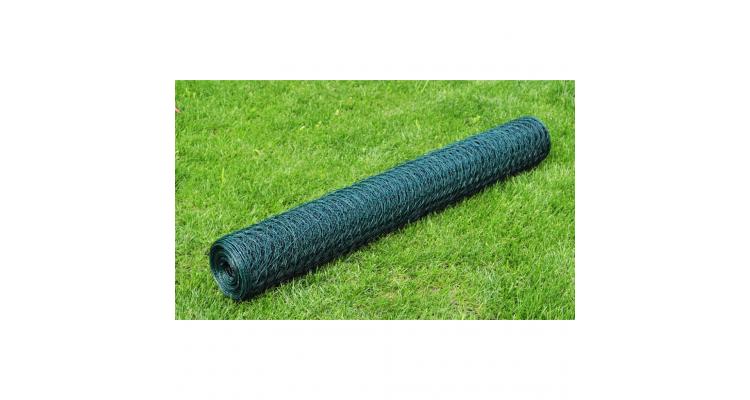 Plasa gard cu izolatie PVC 1 m x 25 m, grosime 1,1 mm