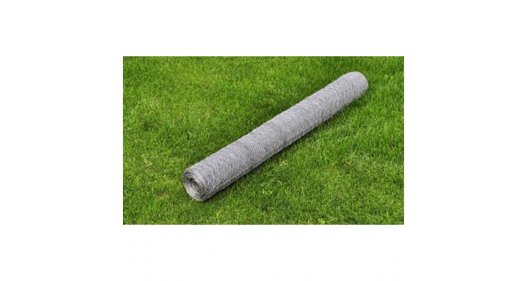 Plasa gard otel galvanizat 50 cm x 25 m grosime 0,75 mm