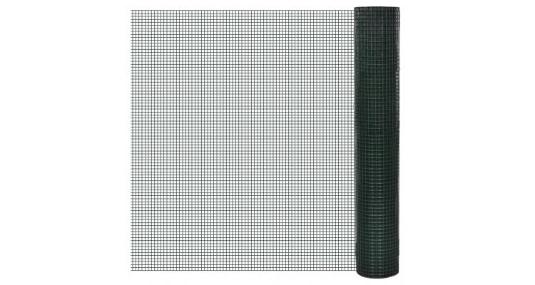 Plasa gard cu izolatie PVC 1 m x 25 m ochi 16 x 16 mm