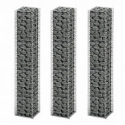 Set 3 gabioane din sarma galvanizata 25 x 25 x 150 cm