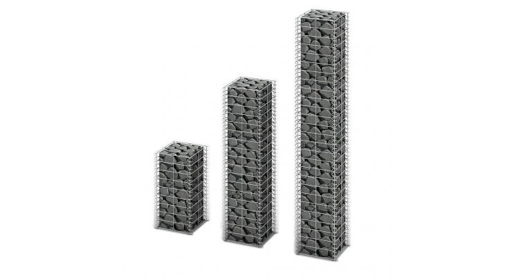 Set 3 gabioane din sarma galvanizata marimi diferite imagine 2021 kivi.ro